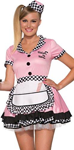 Forum Novelties Women's Trixie Sue 50's Diner Waitress Costume, Pink, Medium/Large -
