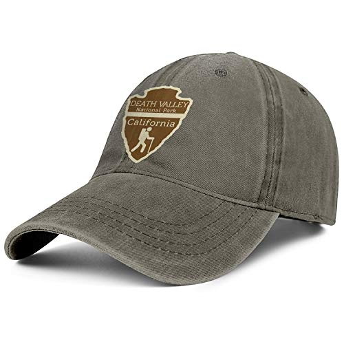 - Death Valley National Park California Unisex Denim Flat Brim Cap Adjustable Sun Baseball Hat