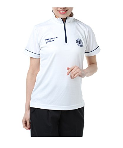 認証信じる弁護オプスト レディース ゴルフウェア ポロシャツ 半袖 チドリ半袖HZシャツ OP220301H02 WH M
