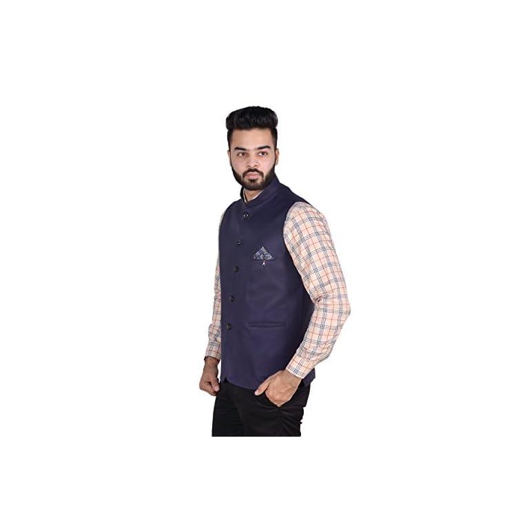 41ejygVuiLL. SS768  - OORA Men's Cotton Blend Woven Nehru and Modi Jacket