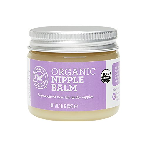 Honest Organic Nipple Balm with Shea Butter and Tamanu Oil (NO parabens, lanolin or mineral oil
