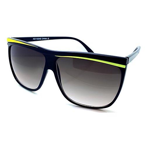 la MUJERES celebridad de las PLANA la Amarillo Moda la Gafas parte de KISS® de JUNO fresco de vendimia sol de SUPERIOR la de mod qAvE7ax