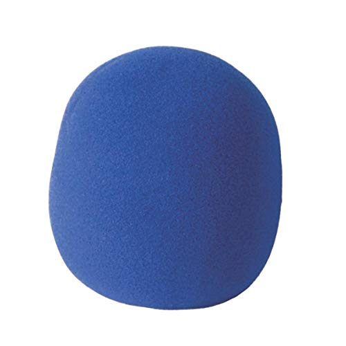 - On-Stage Foam Ball-Type Microphone Windscreen, Blue