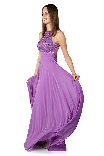 Dynasty Jaya Lavender 1022812 mit Spirit Schal Damen Kleid lange Elfenbeinfarben Stil rF7wxrqRg
