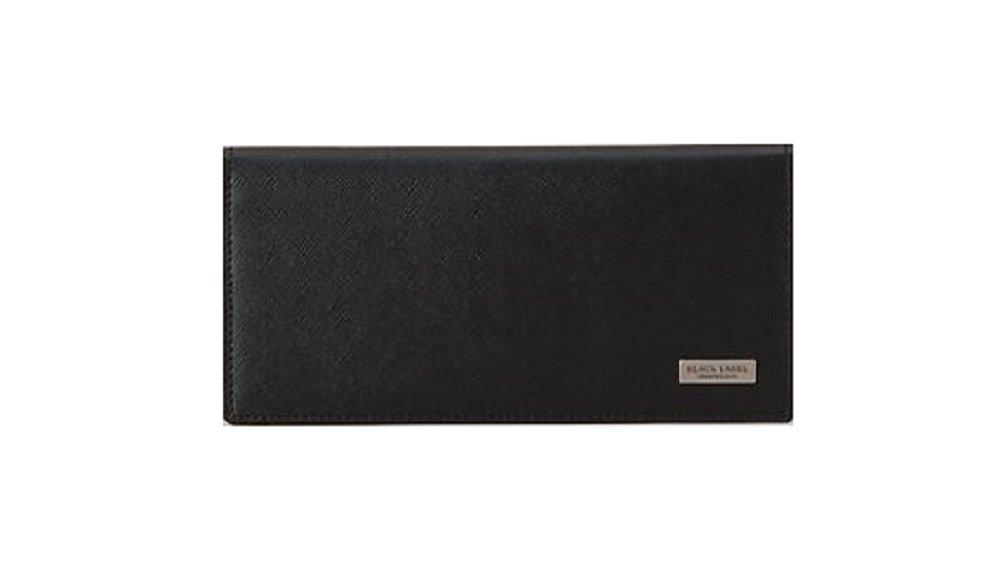 ブラックレーベル クレストブリッチ メンズ 財布 長財布 プリムレザーロング バーバリー ライセンス商品 (ブラック) B07C7MC1ZL カラーエンボス ブラック カラーエンボス ブラック
