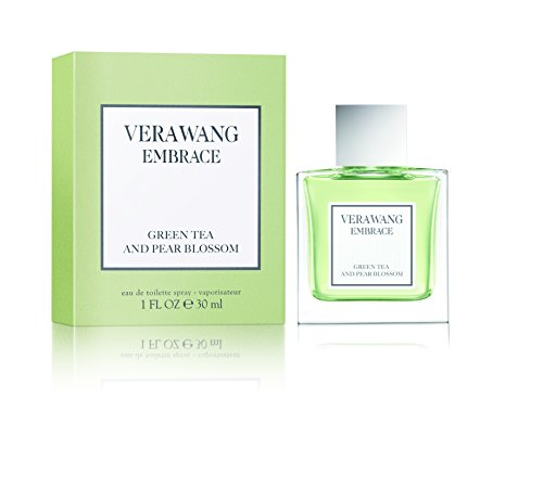 Vera Wang Embrace Eau de Toilette Green Tea & Pear Blossom Scent 1 Fluid Oz. Women's Cologne Bright, Modern, Classic Fragrance