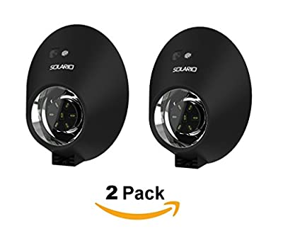 Bright Solar Powered Outdoor LED Lights with Motion Sensor Detector by Solario. Easy to Install Wireless Exterior Security Lighting for Patio, Deck, Driveway Garden, Stairs & Outside Walls. (2 Pack)