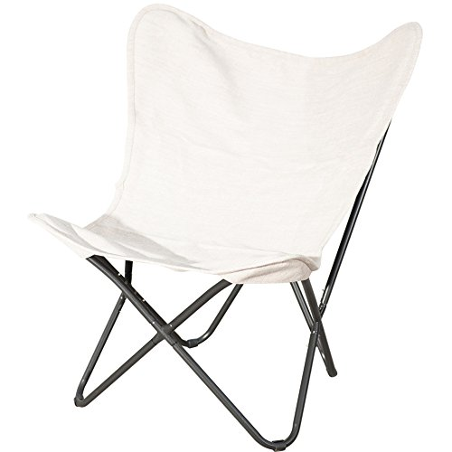 PatioPost Outdoor Camping Butterfly Chair With Black Steel