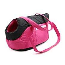 DealMux Pink Foldable Sponge Pet Puppy Travel Carrier Purse Cat Dog Shoulder Bag