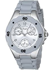Invicta Womens 1273 Angel Grey Silicone Silver Dial Watch