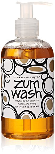 Silk Coconut Body Wash - Indigo Wild Zum Wash Natural Hand & Body Liquid Soap, Frankincense & Myrrh, 8 Fluid Ounces