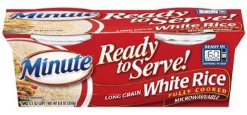 Minute Ready to Serve Long Grain White Rice 2 - 4.4 Oz Cups (Pack of 4) by Minute