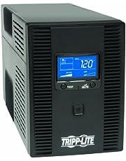Tripp Lite 1500VA 900-Watt UPS Back Up Smart Tower LCD AVR 120-Volt USB Coax RJ45, Black (SMART1500LCDT)