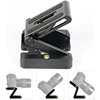 Aluminum Alloy Quick Release Plate Z flex Tilt Head Ball Head + Spirit Level for Nikon Canon Sony DSLR Camcorder