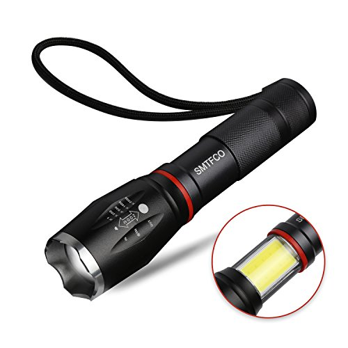 (LED S800 Flashlight with COB Work Light and Magnet, High Lumen, Zoomable, 5 Modes, Water Resistant, As Seen on TV Flashlights - Best Camping, Emergency, Magnetic Light)