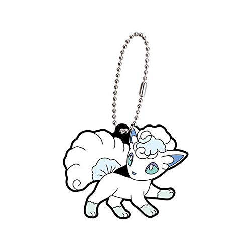 Amazon.com: Pokemon Goma Mascota Swing Llavero Alola~Rokon ...