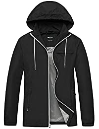 Wantdo Men's Lightweight Packable UV+ Protect Quick Dry Windproof Skin Jacket