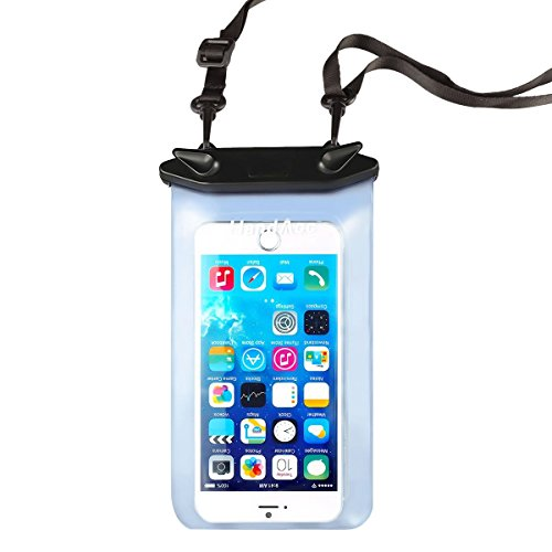 HandAcc Universal Waterproof Case, IPX8 Waterproof Phone Pouch for iPhone 6 plus/6/5s/5/5C/4/4s/3gs, iPod, Samsung Galaxy S5/S4/S3 and other Smartphones with Screen Up to 5.5