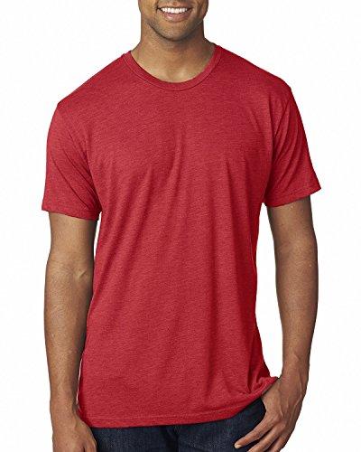 Next Level Men's USA Tri-Blend Tee, Vintage Red, Medium