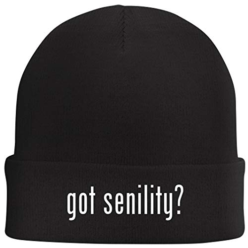 Tracy Gifts got Senility? - Beanie Skull Cap with Fleece Liner, Black ()