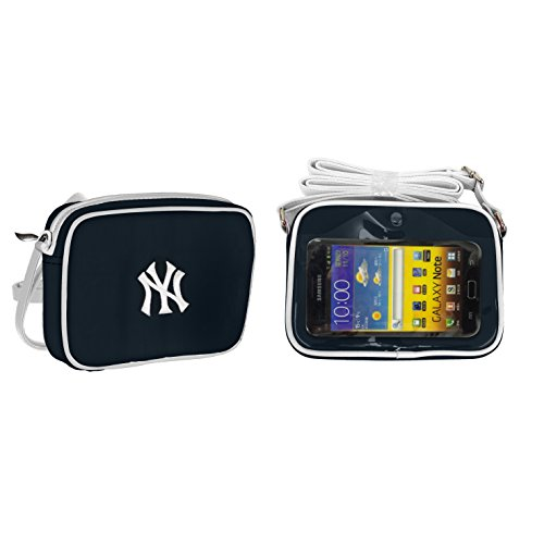 Charm 14 Cross Body Purse with Touchscreen for all Smartphones - Retail Packaging - New York Yankees
