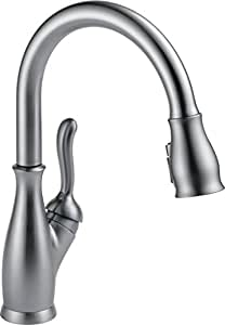 Delta Leland 9178-AR-DST Single Handle Pull-Down Kitchen Faucet with MagnaTite Docking and ShieldSpray Technology, Arctic Stainless