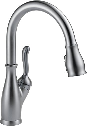 Delta Leland Single-Handle Kitchen Pull-Down Faucet with Magnetic Docking Spray Head, Arctic Stainless 9178-AR-DST (Legend Single Handle)