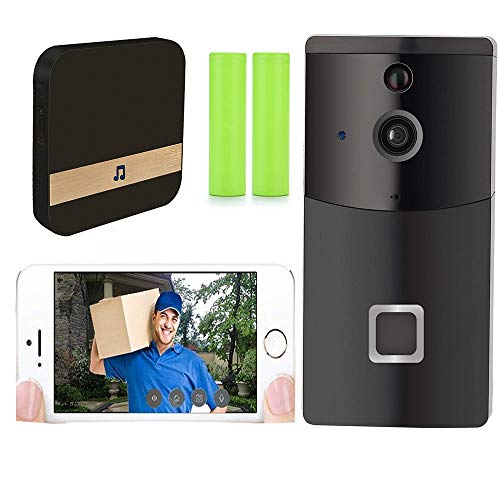 YLXD Video Doorbell, Smart Doorbell 720P HD WiFi Security Camera, Real-Time Video and Two-Way Talk, Night Vision, Waterproof, PIR Motion Detection and App Control for iOS and Android