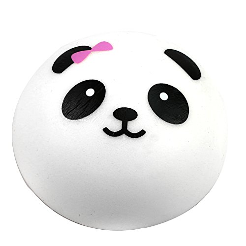 Price comparison product image Feamos Panda Squishy Kawaii Buns Bread Charms Key/Bag/Cell Phone Chain Decoration Accessories Pack of 1(9.5cm)