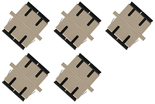 Fiber Optic Cable Adapter Coupler SC-SC Duplex Multimode 5 Pack ()