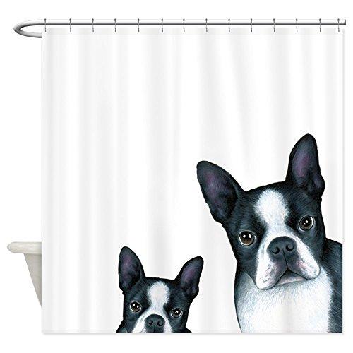 CafePress - Dog 128 Boston Terrier - Decorative Fabric Shower Curtain (69