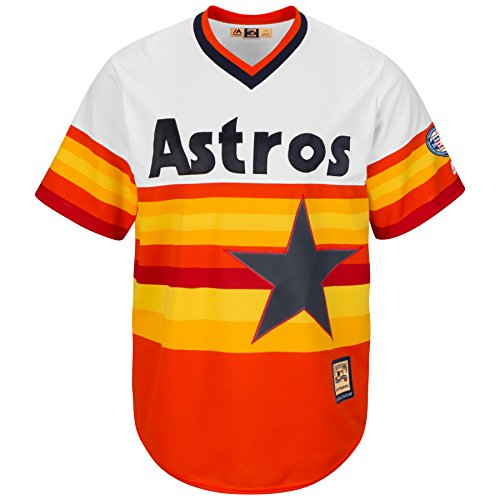 Houston Astros Cool Base Rainbow Jersey by Majestic (Medium)