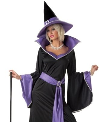 [California Costumes Women's Incantasia, The Glamour Witch,Black/Purple,Small Costume] (Witch Costume For Adults)