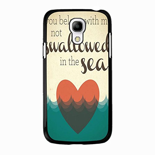Samsung Galaxy S4 Mini Coldplay Hybrid Cover Shell Unique Heart With Sea Design Britpop/Alternative Rock Band Coldplay Phone Case Cover for Samsung Galaxy S4 Mini