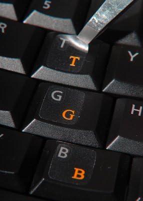 Pegatinas con Teclado Turco para computadora de Escritorio, computadora portátil (calcomanías de Teclado con Letras Rojas)