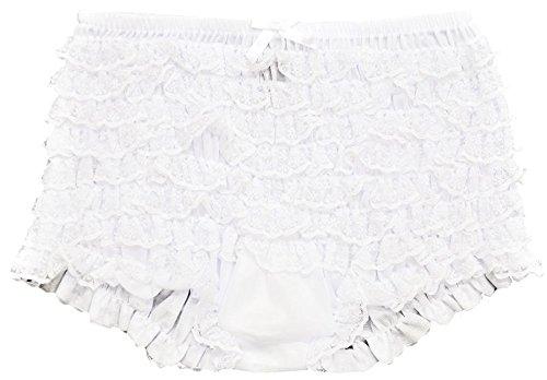Leg Avenue Junior Ruffle Rhumba Boy Shorts, One Size, White