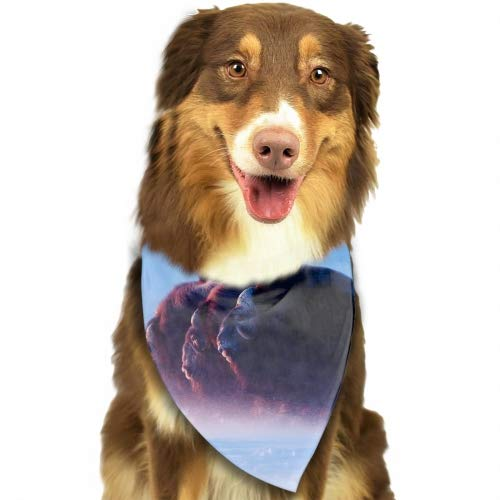 Pet Dog Bandana Triangle Bibs Scarf Animals Buffalo Ice Nature Accessories for Dogs, Cats, Pets Animals