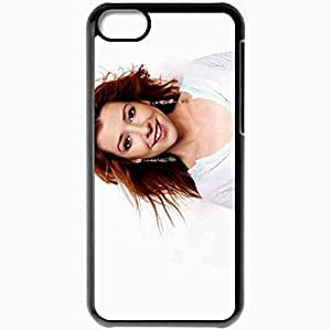 Personalized iPhone 5C Cell phone Case/Cover Skin Alyson Hannigan Black