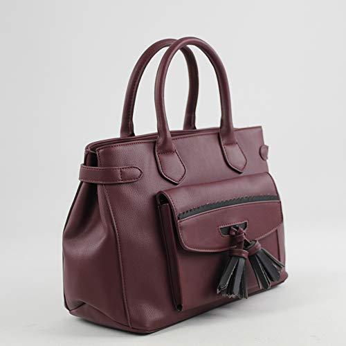 H De Rojo Shopper w Carpi X burdeos Eferri L Mujer Mano Cm Bolso Para 16x24x33 5wqxHOPITx