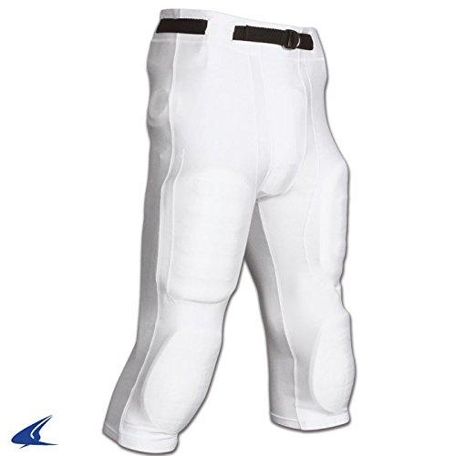 CHAMPRO Adult Goal Line Poly Spandex Football Pant White XL