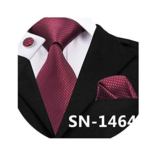 Bright Red Tie Set Floral Jacquard Woven Silk Ties Men Business Wedding Party 8.5cm Classic Corbatas,C-1464