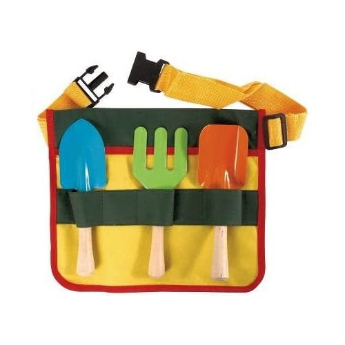 "Wholesale ""ABC Products"" - (NEW LOWER PRICE) - 3 Piece - Garden Tool Set - Steel With Wooden Handle - Waist High Apron For Storage (Tool Set Include: Hand Shovel, Hand Fork and Trowel - Not A Toy) for sale"