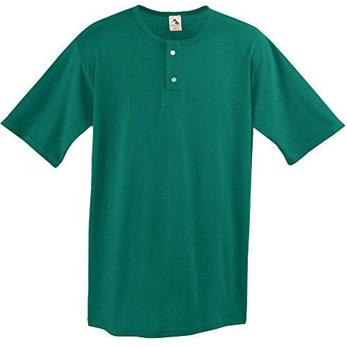 (Augusta Sportswear Two Button Baseball Jersey, XX-Large, Dark Green)