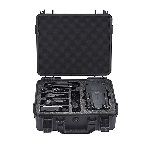 DJI Mavic Pro Hard Case, Waterproof Carrying Case Hardshell Housing Case Suitcase Storage Bag for DJI Mavic Pro Drone-By Kepooman