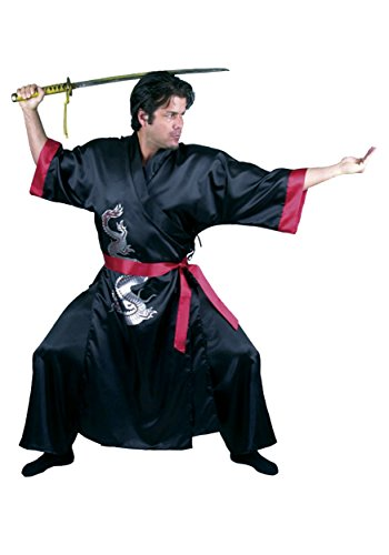 [Charades Costumes 146117 Samurai Adult Costume - Black - X-Large] (Halloween Costumes Asian)