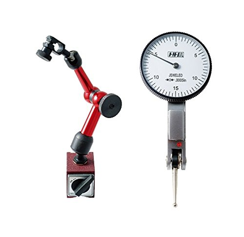HHIP 4400-0016 Dial Test Indicator and Mini Universal Magnetic Base Kit, 0-0.03