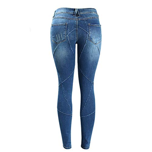 Denim Elasticizzati Blue Crossing Jeans Plus Marca baibao Pantaloni Bassa Z Patchwork Women's Line Jean Size Vita A T6x1nfqa