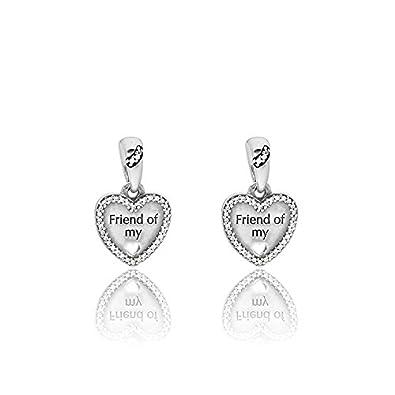 Amazon.com  Pandora Sterling Silver Hearts of Friendship Dangle ... 0d9e205977