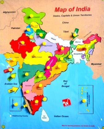 Buy Wooden Puzzle Map of India Online at Low Prices in India - Amazon.in