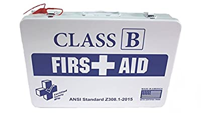 Certified Safety K615-019 36M Class B First Aid Kit, ANSI Z308.1-2015, Metal Case by Certified Safety MFG